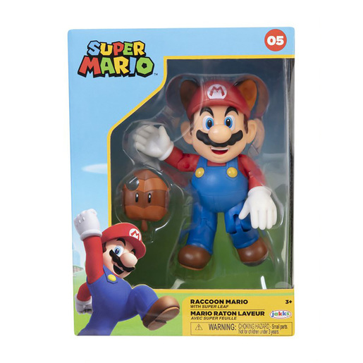 Super Mario 4 Inch Figure - Raccoon Mario With Leaf