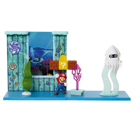 Super Mario Underwater Playset With 2.5 Inch Figure