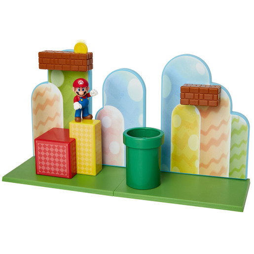 Super Mario Acorn Plains Playset With 2.5 Inch Figure