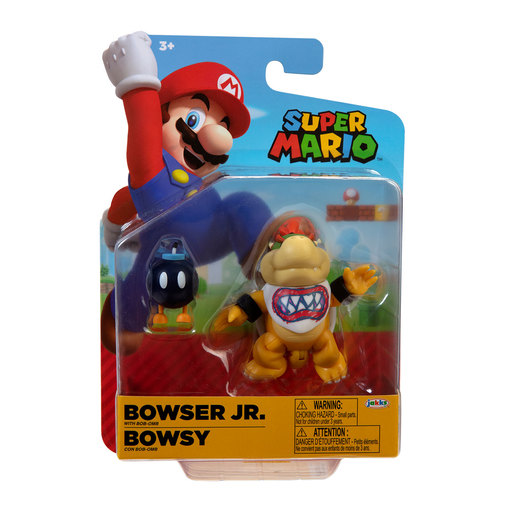Super Mario 10cm Figure - Bowser Jr With Bob-Omb
