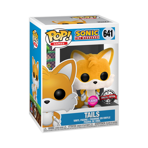 Funko Pop! Games: Sonic The Hedgehog - Tails (Flocked, Special Edition)