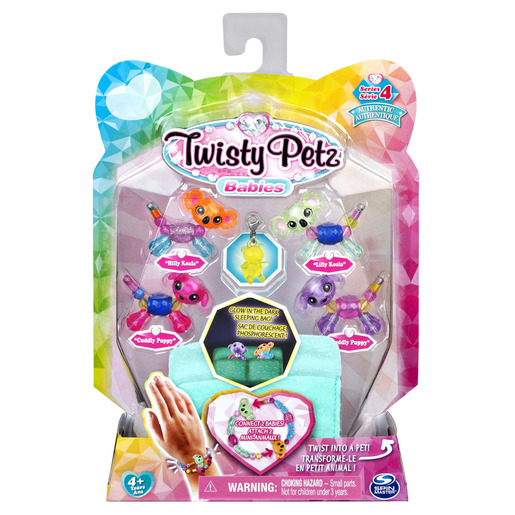 Twisty Petz Series 4 Babies - 4 Pack Hilly & Lilly Koala's With Cuddly & Puddly Puppies