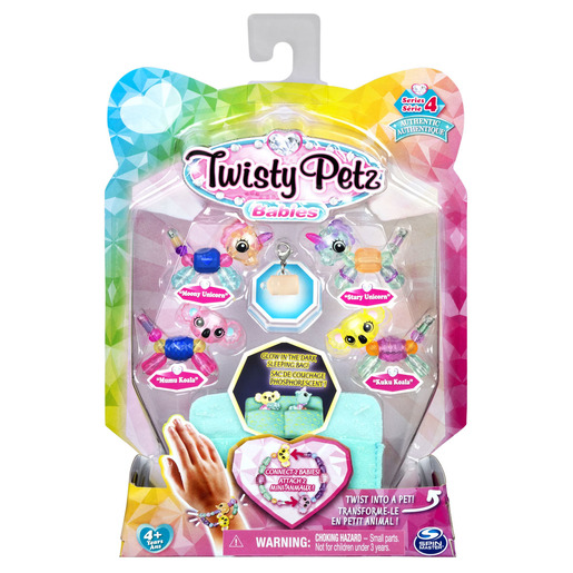 Twisty Petz Series 4 Babies - 4 Pack Moony & Stary Unicorns With Mumu & KuKu Kolas