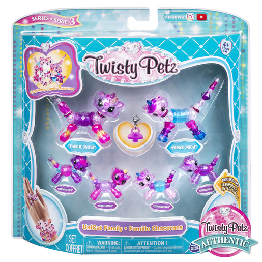 Twisty Petz Series 3 Bracelet Set - Uni-Cat Family Pack