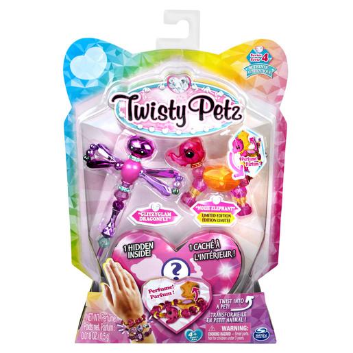 Twisty Petz Bracelet Set - Glitzyglam Dragonfly, Nozie Elephant & Surprise