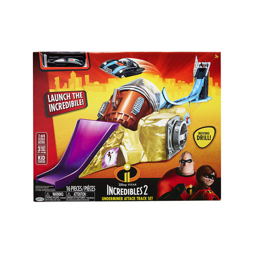 Incredibles 2 Underminer Attack Track Set