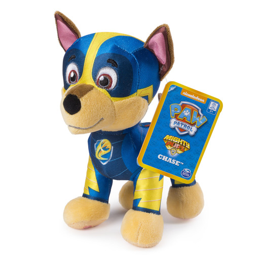 Paw Patrol 20cm Mighty Pup Plush - Chase from TheToyShop