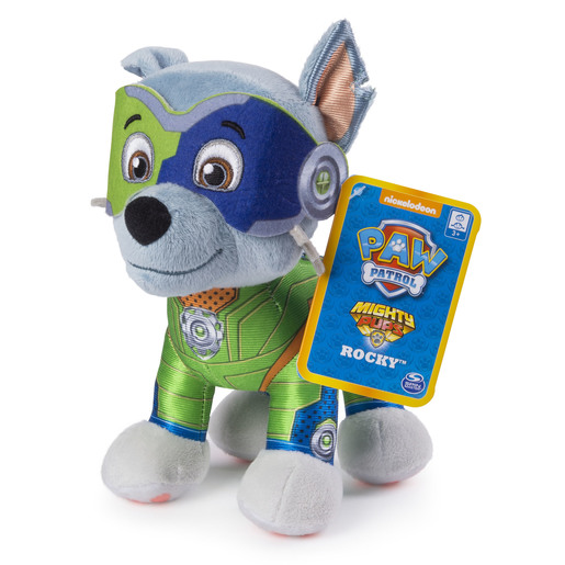 Paw Patrol 20cm Mighty Pup Plush - Rocky from TheToyShop