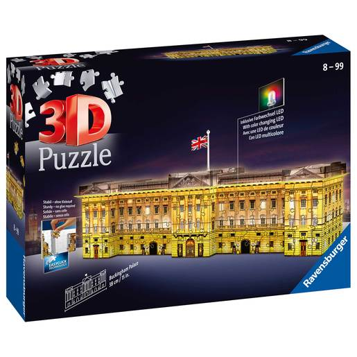 Ravensburger Buckingham Palace - Night Edition 3D Jigsaw Puzzle -  216pc