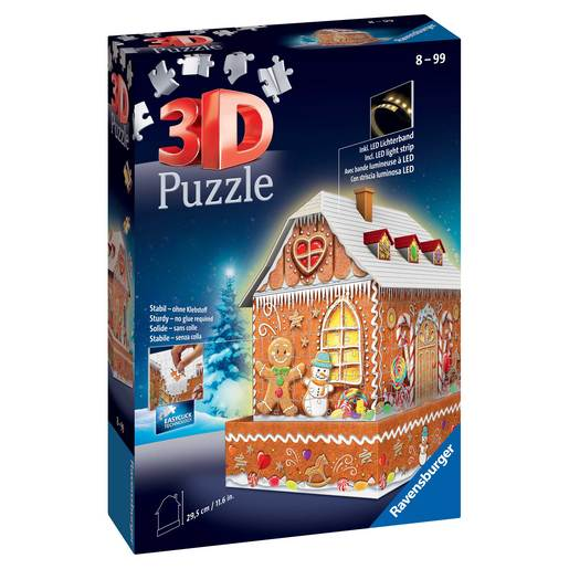 Ravensburger Christmas Gingerbread House 3D Jigsaw Puzzle - 216pc