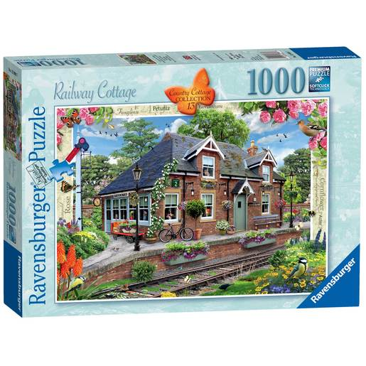 Ravensburger Country Cottage Collection No.13 - Railway Cottage Jigaw Puzzle - 1000pc