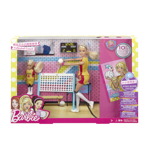 Barbie Volleyball Coach Playset