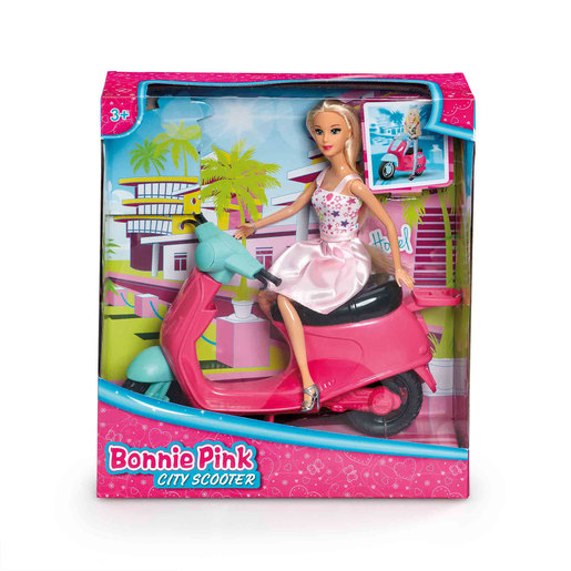 Bonnie Pink Doll - City Scooter Playset