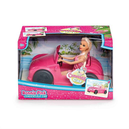 Bonnie Pink Doll - Convertible Car Playset