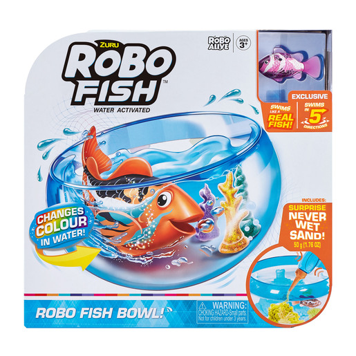 Robo Fish - Fish Tank Playset by Zuru - Pink