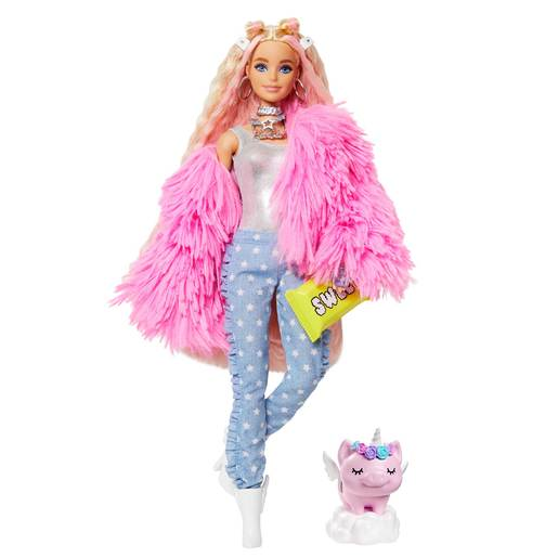 Barbie Extra Doll  - Pink Fluffy Jacket
