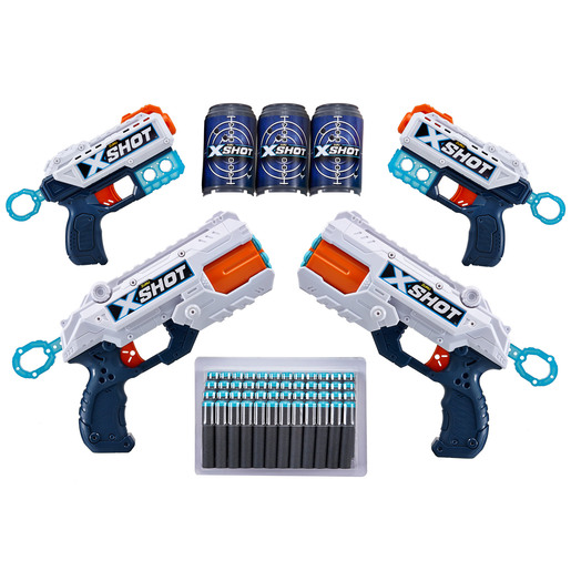 X-Shot 6 Foam Dart Blaster - 48 Darts 3 Cans by ZURU