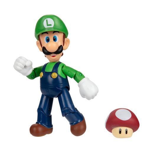 Super Mario 10cm Figure - Luigi with Super Mushroom