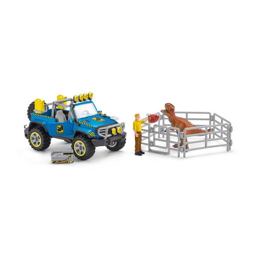 Schleich Dinosaurs Off Road Vehicle With Dino Outpost Playset