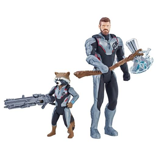 Marvel Avengers Action Figures - Thor and Rocket Racoon