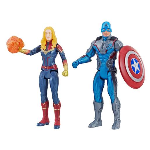 Marvel Avengers Action Figures - Captain Marvel and Captain America