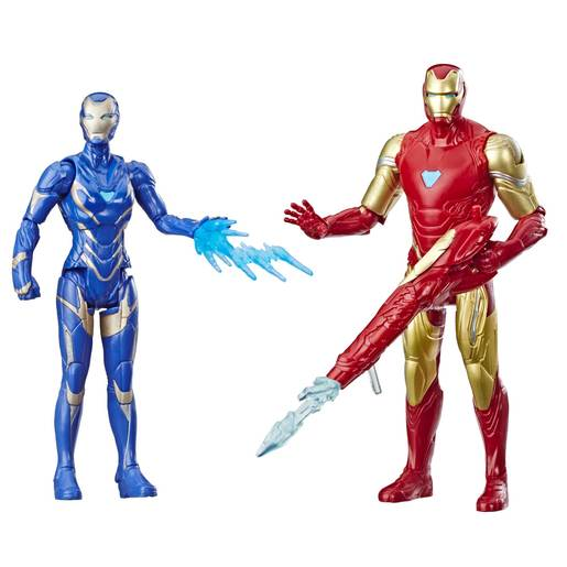 Marvel Avengers Action Figures - Iron Man and Marvel's Rescue