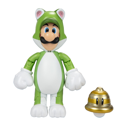 Super Mario 10cm Figure - Cat Luigi With Super Bell