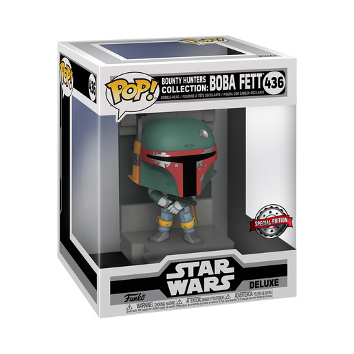 Funko Pop! Star Wars: Bounty Hunters Collection - Deluxe Boba Fett (Special Edition)