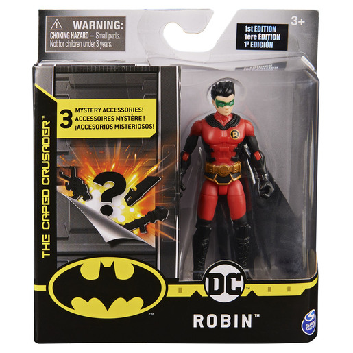 Batman 10cm Action Figure  - Robin with 3 Mystery Accessories