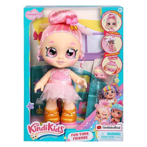 Kindi Kids Fun Time Friends Pirouetta - Pre-school Kindi Kids 10 inch doll and 2 Shopkin Accessories