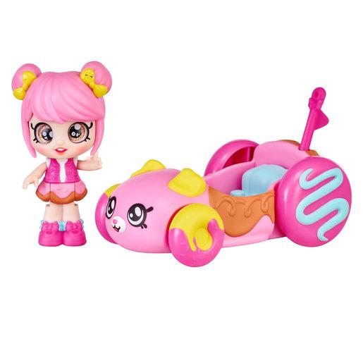 Kindi Kids Minis Donatina's Car & Bobble Head Figurine