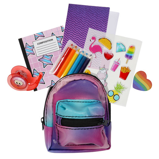 Real Littles: Micro Backpack with 6 Stationery Surprises - Series 1  (Styles Vary)