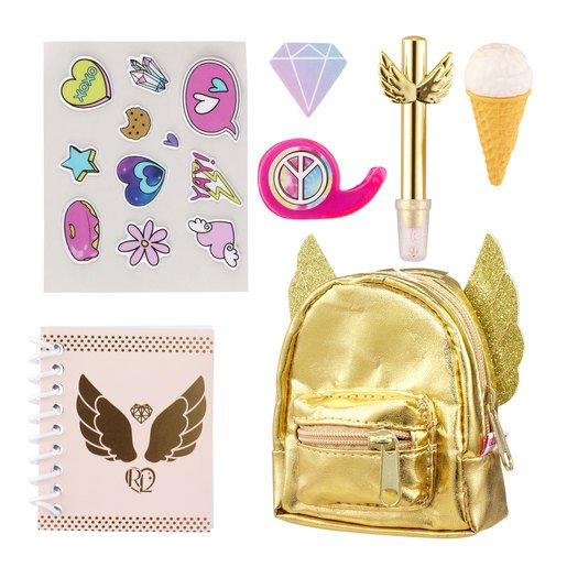 Real Littles: Micro Backpack with 6 Stationery Surprises - Series 2 Themed (Styles Vary)