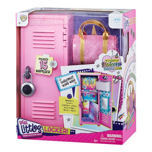 Real Littles: Locker with Duffel Bag and 15 Surprises (Styles Vary)