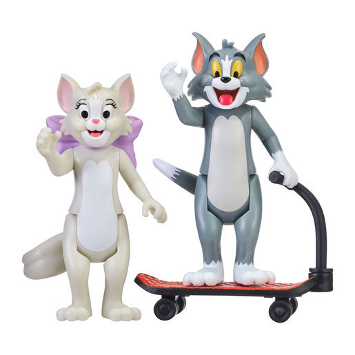 Tom & Jerry Figure 2-Pack: Skateboarding Tom & Toots