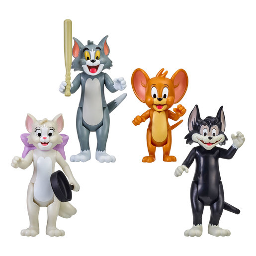 Tom & Jerry Figure 4-Pack Friends & Foes: Tom, Jerry, Toots & Butch