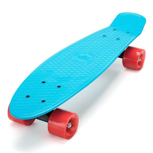 Xootz Kids Retro Plastic Complete Cruiser Skateboard - Blue