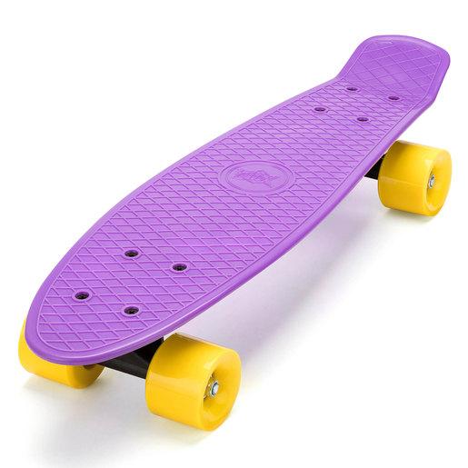 Xootz Kids Retro Plastic Complete Cruiser Skateboard - Purple