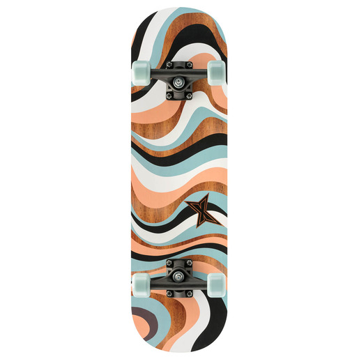 Xootz Skateboard 28 Inch Neutral Swirl