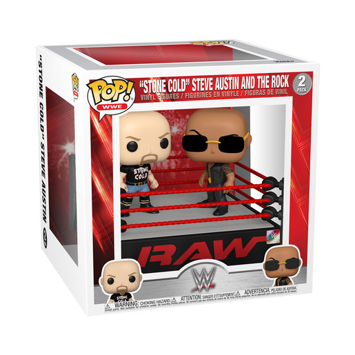 """Funko Pop! WWE: """"Stone Cold"""" Steve Austin And The Rock (2 Pack)"""