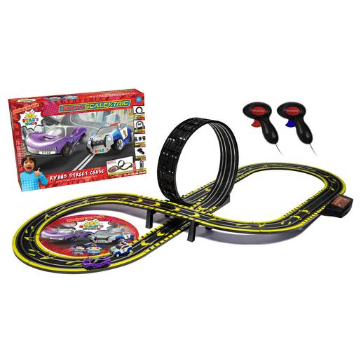 Micro Scalextric Ryan's World Street Chase Race Set