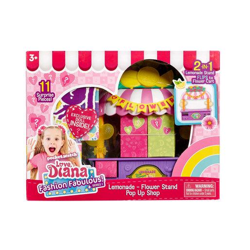 "Love Diana: 3.5"" Doll & Lemonade Stand Playset"