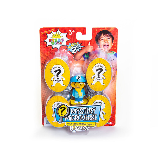 Ryan's World Mystery Microverse Figures - 5 Pack (Styles Vary)