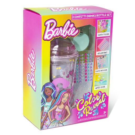 Barbie Colour Reveal Confetti Drinks Bottle Set