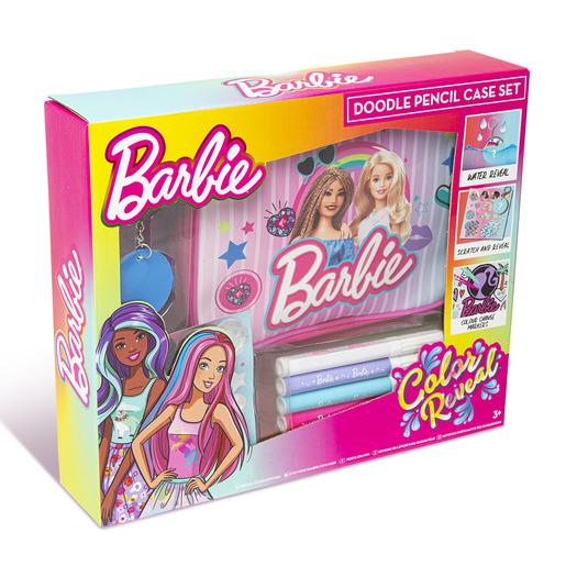 Barbie Colour Reveal Doodle Pencil Case Set