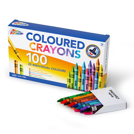 Coloured Crayons 100PK