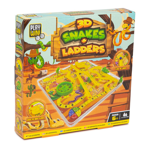 Play & Win 3D Snakes And Ladders Travel Game