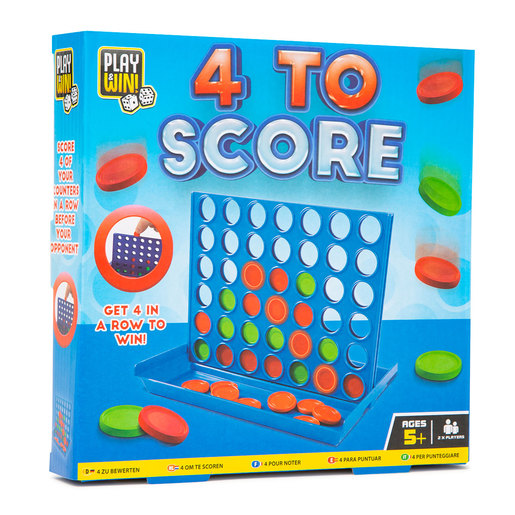 Play & Win Four To Score Travel Game