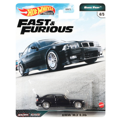 Hot Wheels X Fast and Furious Vehicle - BMW M3 E46 (Black)