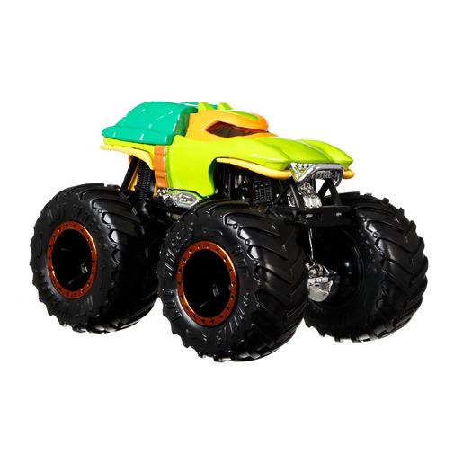 Hot Wheels Monster Trucks Demolition Doubles - Michelangelo Vs Donatello